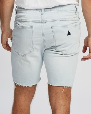 Abrand A Dropped Skinny Shorts Denim Fallin' Up