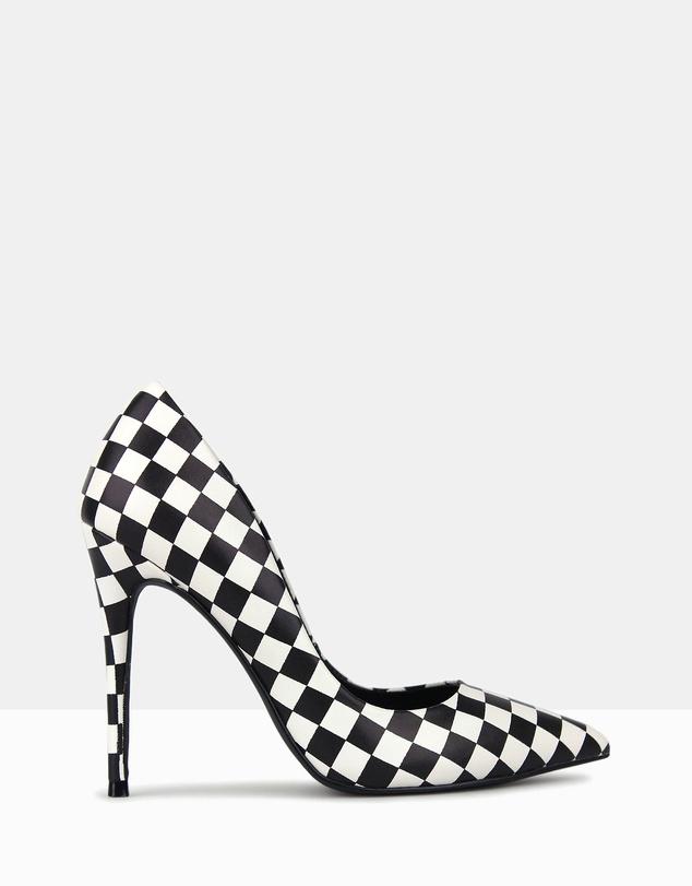 a9a8d35c6 Shoptagr | Blossom Checkered Print Stiletto Pumps by Betts