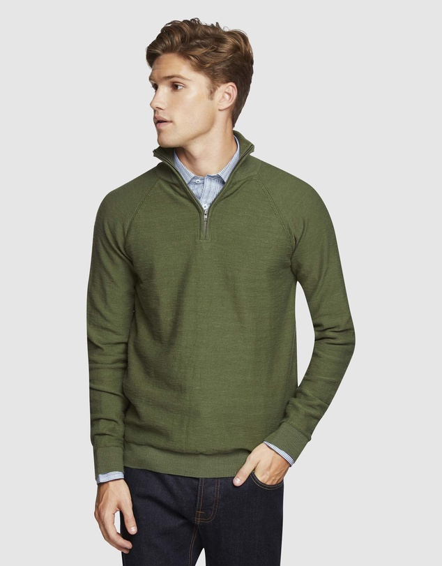 Oxford - Bart Zip Neck Knit