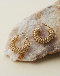Reliquia Jewellery - Spiral Gold Hoop Earrings