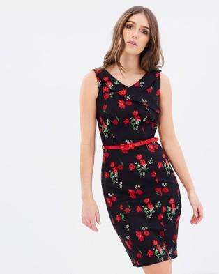 Review – Philomena Rose Dress – Dresses (Black & Red)