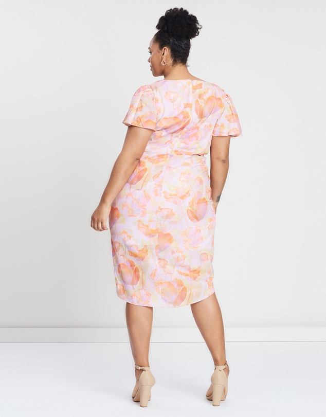 Cooper St - CS CURVY Peony Short Sleeve Drape Dress