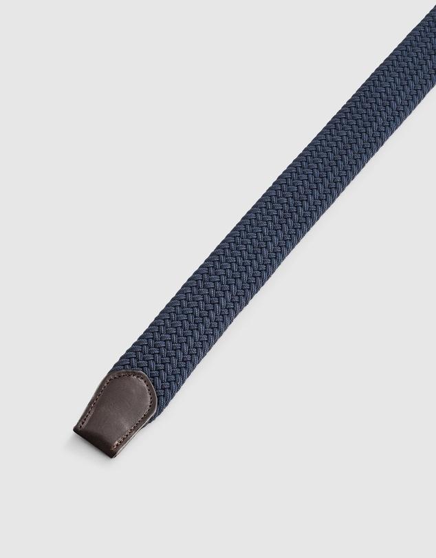 Men Plait Stretch Belt
