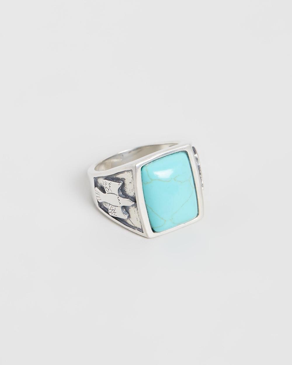 Serge DeNimes Dove Stone Ring Jewellery Silver