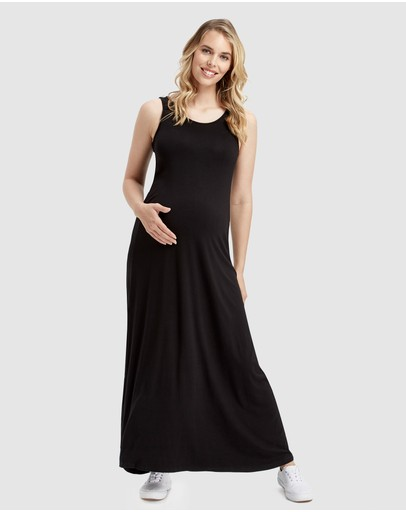 Bamboo Body Maxi Dress Black