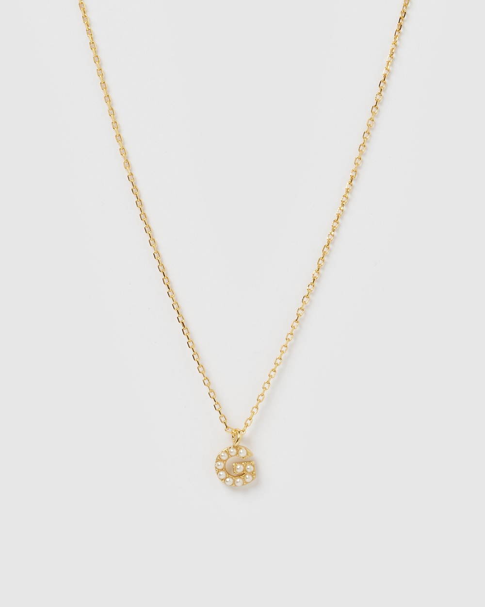 Izoa Pearl Letter G Necklace Gold Jewellery Gold