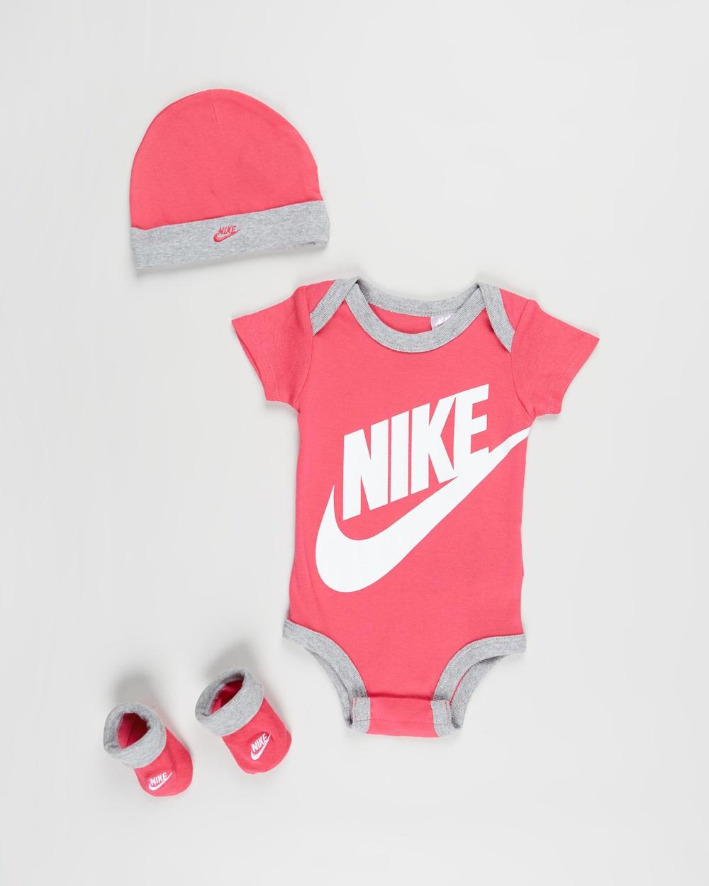Nike Futura Logo Boxed Set Babies Headwear Pink