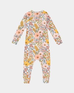 Goldie + Ace Vintage Floral Zip Suit   Babies - Longsleeve Rompers (Golden)