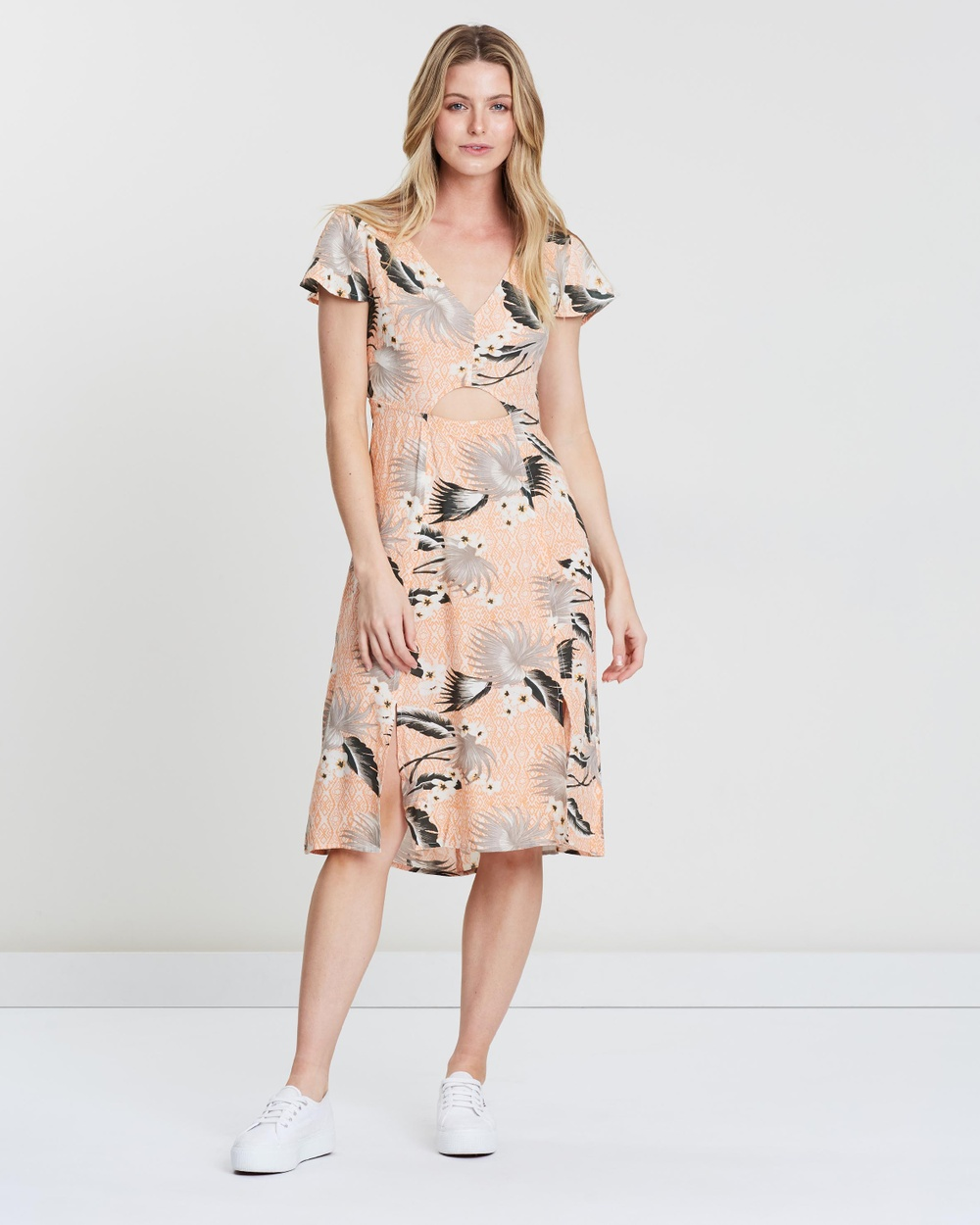 O'Neill Peach Tropical Milani Dress