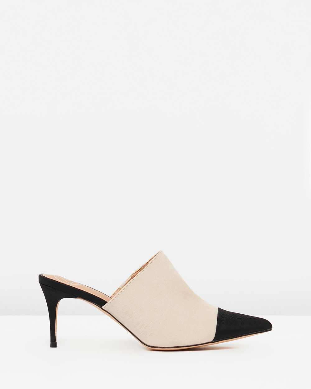 Missguided Toe Cap Pointed Heeled Mules Mid-low heels Nude Toe Cap Pointed Heeled Mules