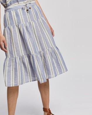 KAJA Clothing Havanna Skirt - Skirts (Blue Stripe)