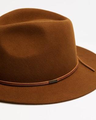 Brixton Wesley Packable Fedora - Hats (Coffee)
