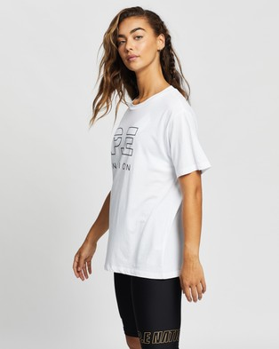 P.E Nation Heads Up Tee - T-Shirts & Singlets (Optic White)