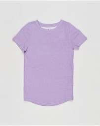Cotton On Kids - The Cruz Short Sleeve Long Line Tee - Kids-Teens