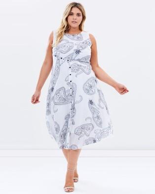 Advocado Plus – Folklore Spirit Paisley Dress White Paisley