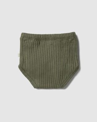 Wilson & Frenchy Organic Rib Nappy Pant   Babies - Bloomers (Fern Green)