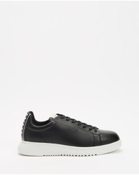 Emporio Armani - Elevated Heel Logo Sneakers