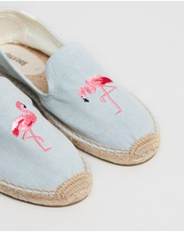 Soludos - Embroidered Smoking Slippers