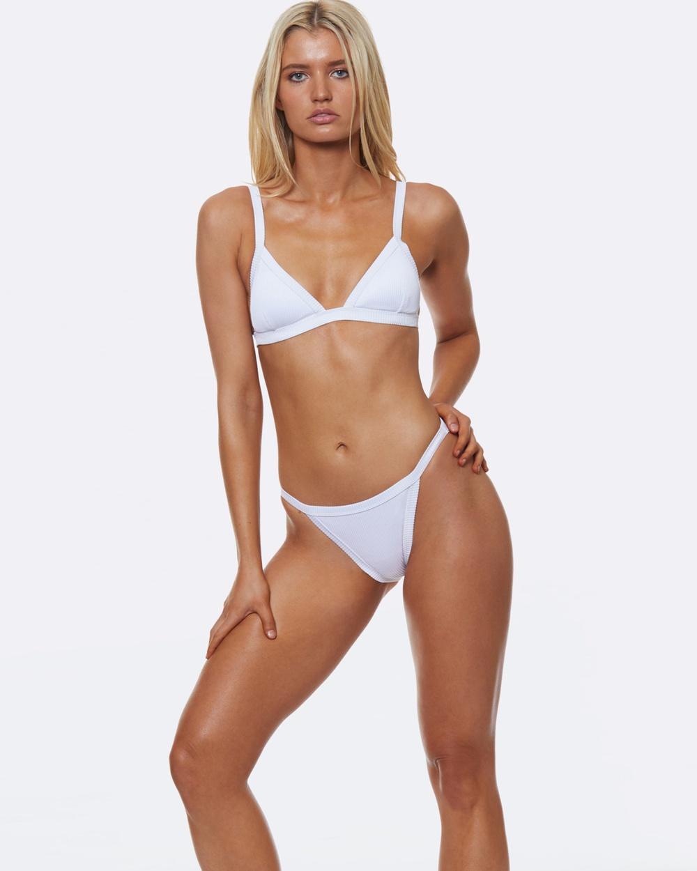 L'urv Sportsrib Bikini Bottoms Bikini Set White Sportsrib Bikini Bottoms