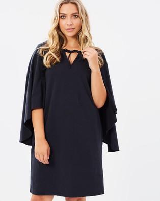 Hope & Harvest – Cape Dress – Dresses (Black)