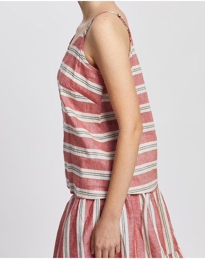 Kaja Clothing Cleo Top Red Stripe