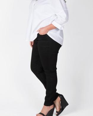 Love Your Wardrobe Kenna Stretch Black Jeans - Slim (Black)