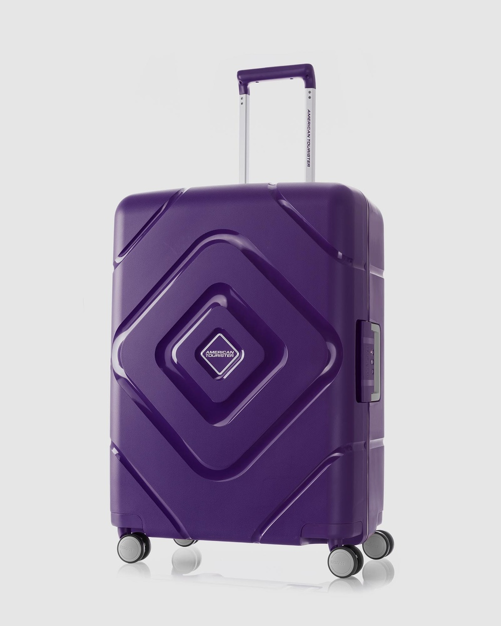 American Tourister Trigard Spinner 66 24 TSA Travel and Luggage Purple 66-24