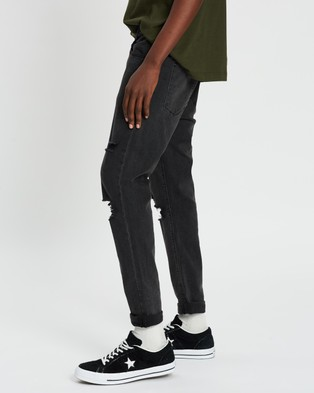 Abrand A Dropped Skinny Turn Up Jeans - Jeans (Wild Smoke)