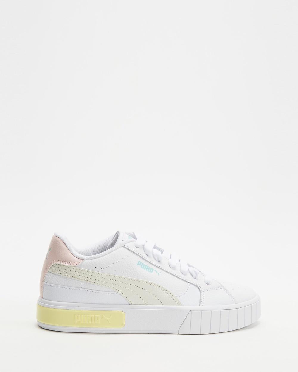 Puma Cali Star Sneakers Women's Lifestyle Puma White, Vaporous Grey & Yellow Pear