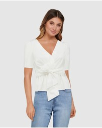 Forever New - Paige Cotton Tie Top