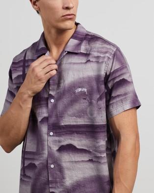 Stussy Island Linen Shirt - Casual shirts (Lilac)
