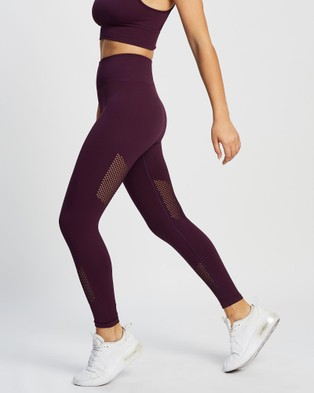 AVE Activewoman High Compression Seamless Full Tights - 7/8 Tights (Plum)