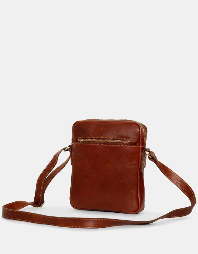 Women Lucius Brown Leather Satchel Bag