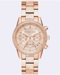 Michael Kors - Ritz Rose Gold-Tone Analogue Watch