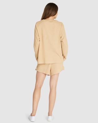 Cloth & Co. - Organic Cotton Waffle Short Sleepwear (Salted Caramel)