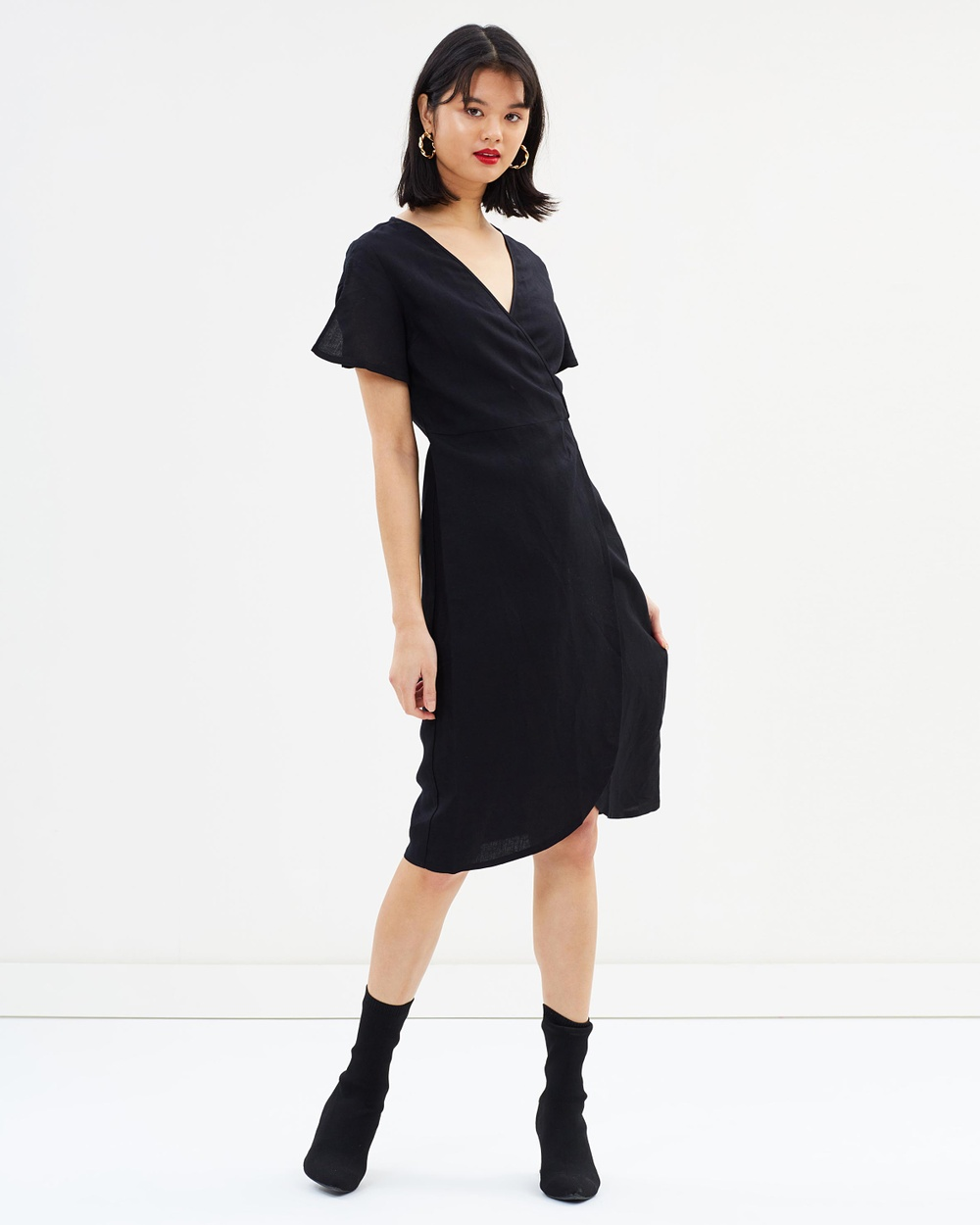 All About Eve Avery Wrap Dress Dresses Black Avery Wrap Dress
