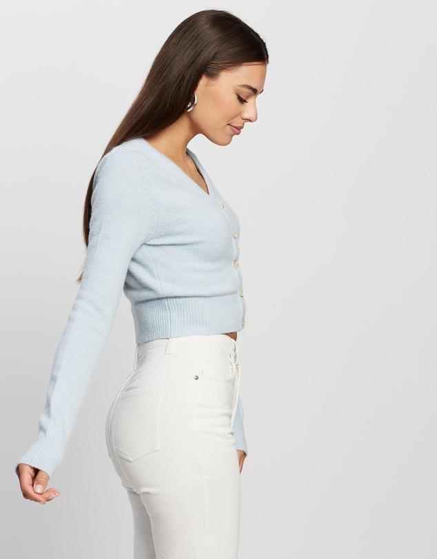 Women Crop Knit Cardigan