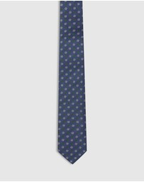 Oxford - Textured Square Silk Skinny Tie
