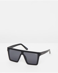 Quay Australia - Hindsight Black Square Sunglasses