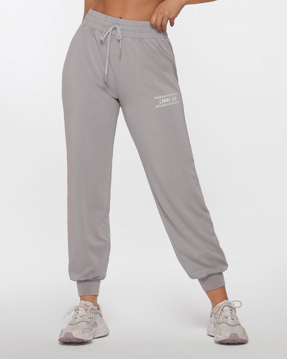Lorna Jane All Rounder Tracksuit Pants Sweatpants Concrete Grey