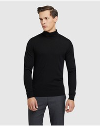 Oxford - Aaron Turtle Neck Pure Wool Knit