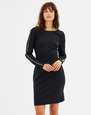 Dorothy Perkins – Pearl Sleeve Body Con Dress – Bodycon Dresses Black