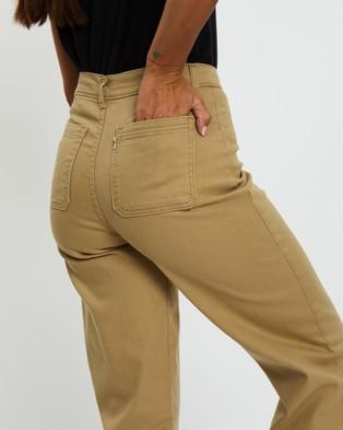 Levi's Ribcage Wide Leg Crop Jeans - Crop (Basic Khaki)