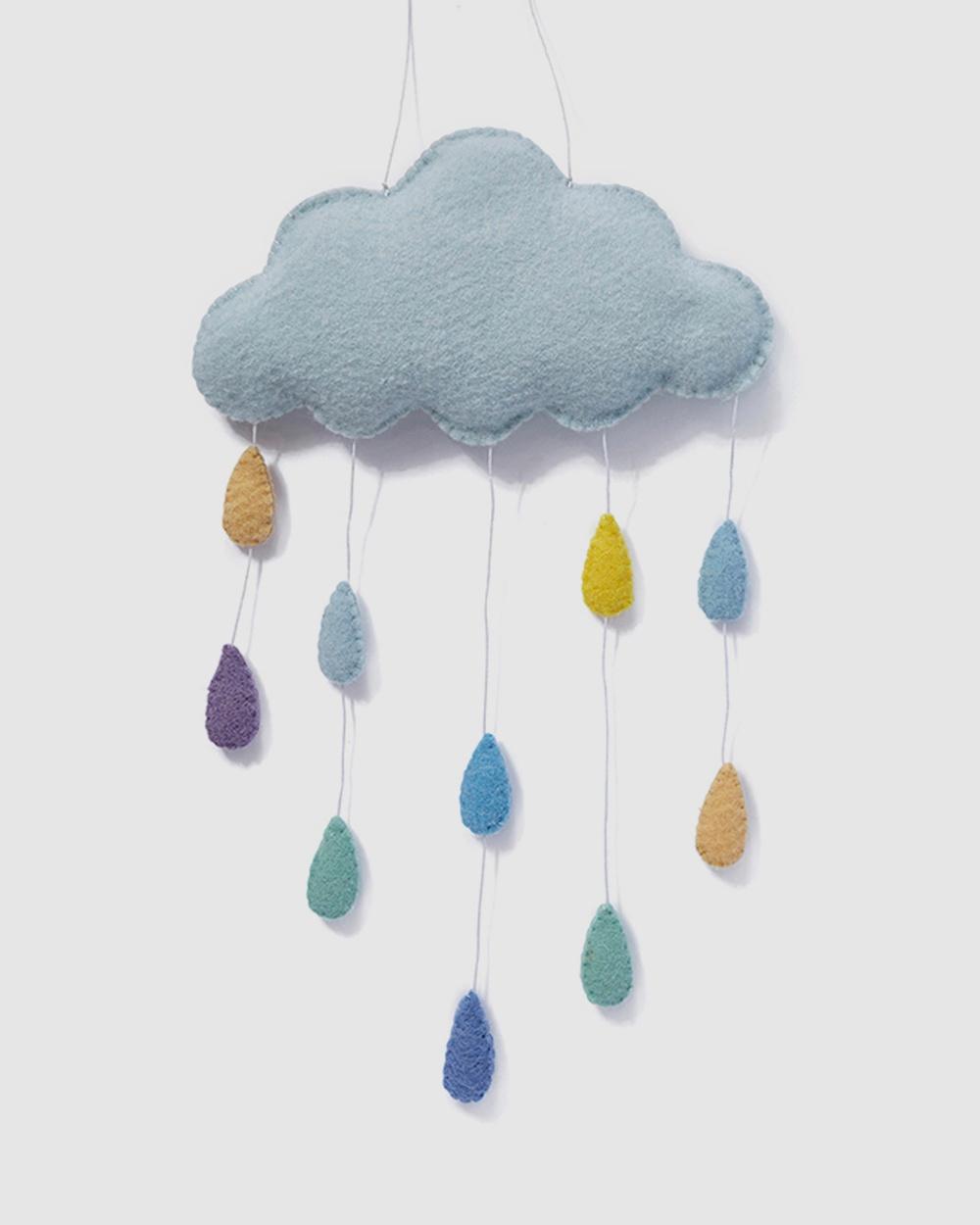 Nana Huchy Cloud Wall Hanging Home Blue