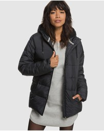 Roxy - Womens Harbor Days Water Repellent Hooded Puffer Jacket
