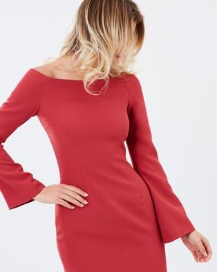 Keepsake the Label – Walk the Wire LS Dress – Dresses (Red Ochre)