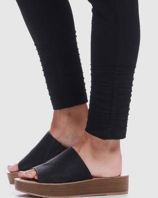 Faye Black Label Slim Leg 7 8th Pants - Pants (Black)