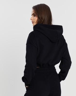 VILLIN Nikki Hooded Crop - Hoodies (Black)