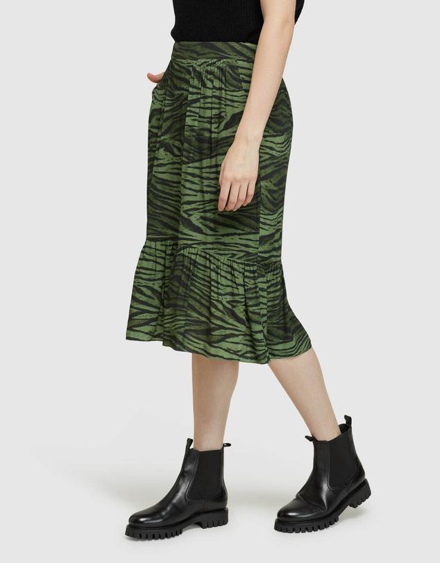 Women Millie Animal Print Skirt