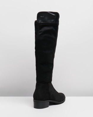 Freelance Shoes Pia - Knee-High Boots (Black Micro)